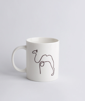 Animal drawing White (낙타) Mug