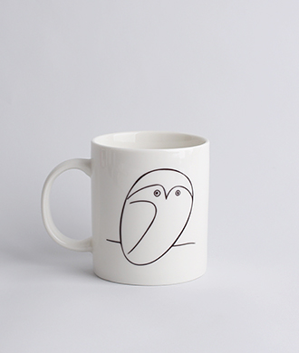 Animal drawing White (부엉이) Mug
