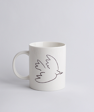 Animal drawing White (새) Mug