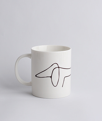 Animal Drawing White (강아지) Mug